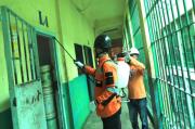 Cegah Penyebaran COVID-19, RPD Sumut Semprotkan Disinfektan di Lapas I Tanjung Gusta