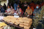 Polrestro Tangerang Musnahkan Ratusan Gram Sabu dan Tanaman Ganja Siap Panen
