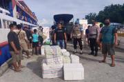 Ratusan Liter Miras Selundupan Kembali Disita Polres Talaud di Pelabuhan Lirung