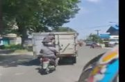 Viral, Aksi Bajing Loncat Curi Barang di Mobil Box di Kota Medan
