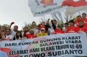 Prabowo Ultah Ke-69, Kader Gerindra Beri Ucapan dari Puncak Gunung Klabat