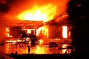 Kebakaran Hebat Melanda Perumahan Jayapura Utara, 30 Rumah Ludes