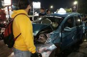1 Truk, 9 Taksi dan 1 Angkot Terlibat Kecelakaan di Jalan Dewi Sartika