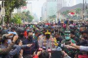 33 Orang Diamankan saat Aksi Demo di Patung Kuda