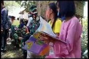 Prajurit TNI AD Berjibaku Cerdaskan Generasi di Batas Negeri