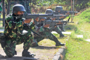 Asah Naluri Tempur, Prajurit Kima Brigif 2 Marinir Latih Kemampuan Menembak