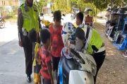 Bocah Ingusan Ugal-ugalan Naik Motor di Jalan Raya Sengkang Kabupaten Wajo, Ditilang Binggung Mau Nangis