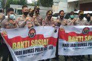 HUT Humas Polri ke-69, Bidhumas Polda Jateng Bagikan 200 Paket Nasi Siap Saji