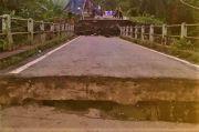 Diduga Akibat Galian Jaringan Gas, Jembatan di Kabupaten OKU Jadi Ambles