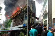 Kebakaran di Tambora Hanguskan Puluhan Rumah Kontrakan