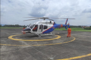 Helikopter Baharkam Polri Back Up Tugas OMP Polda Sulut dalam Pengamanan Pilkada Serentak