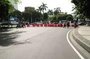 Polisi Mulai Tutup Ruas Jalan di Kawasan Medan Merdeka Barat