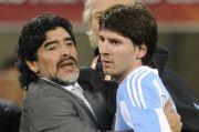 Operasi Otak Akibat Depresi, Messi Harapkan Maradona yang Terbaik