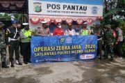 Operasi Zebra 2020, Polres Depok dan Alfamart Bagi-bagi Sembako