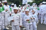 Laskar Cilik FPI Ikut Sambut Kedatangan Habib Rizieq Shihab di Petamburan