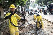 Semrawut, Alasan Pemkot Tangsel Pindahkan Kabel Atas ke Bawah Tanah