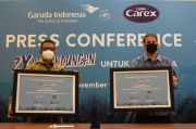 Garuda Indonesia dan Carex Beri Pengalaman Terbang Aman dan Nyaman Saat Pandemi