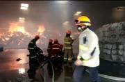 Gudang Tekstil PT Grantex Textile di Bandung, Ludes Terbakar