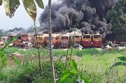 Transjakarta Pastikan Bangkai Bus yang Terbakar di Bogor Bukan Miliknya