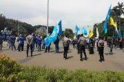 Aksi Buruh di Patung Kuda, Jalan Medan Merdeka Barat Diberlakukan Rekayasa Lalin