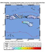 Gempa Bumi Berpusat di Daratan Mengguncang Sumba Barat Daya