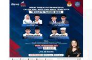 Live di iNews Kamis Besok Pukul 14.00 WIB, Debat Putaran Kedua Pilkada Kota Ternate