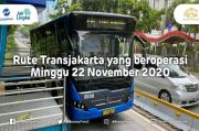 Ini Rute Transjakarta yang Beroperasi Minggu 22 November 2020