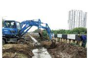 Banjir Ancam Wilayah Tanjung Priok, Saluran Gendong Dibuat di Sisi Kali Sentiong