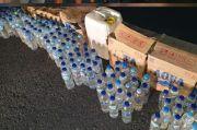 Polres Bitung Amankan Ratusan Botol Miras Cap Tikus