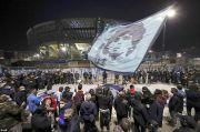 Ribuan Suporter Napoli Turun ke Jalan, Lepas Kepergian Maradona
