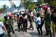 Kota Sorong Memanas 4 Polisi dan Seorang Wartawati Terluka Diserang Massa