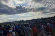 Heboh, Kerumunan Massa Final Sepakbola Tarkam di Serang Tanpa Protokol Kesehatan