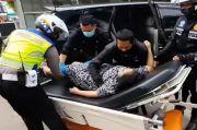 Satlantas Polres Bogor Kawal Ibu Hendak Bersalin yang Terjebak Oneway Jalur Puncak