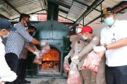 Badan Karantina Pertanian Cilegon Musnahkan 4 Ton Daging Babi Ilegal