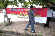 PWI - Polres Bangka Tengah Sebar Spanduk Anti Politik Uang