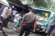 Tragis, Truk Lepas Kendali Tabrak Angkot, Sopir dan Balita Tewas