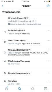 Perang Cuitan, Hastag #AllahWithIBHRS dan #RingkusRijikBasmiFPI trending di Twitter