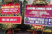 Dukung Pengungkapan Kasus FPI, Kantor Komnas HAM Dibanjiri Karangan Bunga
