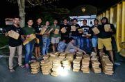 Polrestro Jakarta Barat Gagalkan Pengiriman Ratusan Paket Ganja