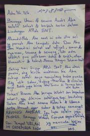 Ini Surat Habib Rizieq dari Balik Jeruji