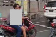 Surabaya Gempar, Pria Mesum Saat Naik Motor di Jalanan Terekam Kamera Warga