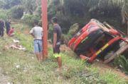 Bus Rombongan Brimob Terguling di Kerinci Jambi