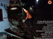 Rumah Tertimpa Material Longsor, 1 KK di Sindangwangi Majalengka Dievakuasi