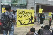 Serikat Buruh Demo Kedubes China, Desak Buka Hasil Investigasi Kasus ABK Indonesia