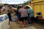 Dua Truk Adu kambing di Jalinsum, 1 Tewas dan 3 Terluka
