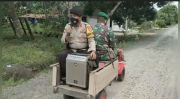 Kendarai Mesin Bajak Sawah, TNI-Polri Kompak Kampanye Protokol Kesehatan