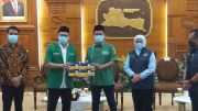 GP Ansor dan Aice Bagikan 5 Juta Masker, Khofifah: Perkuat Pencegahan COVID-19