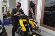 Biker Cimahi Naik Haji Pakai Motor Demi Doakan Kesembuhan Ibu