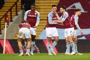 Meski Kehilangan Satu Pemain, Aston Villa Bantai Crystal Palace