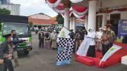 Gubernur Khofifah Lepas Bantuan 100 Ton Beras dari Global Wakaf ACT-YP3I